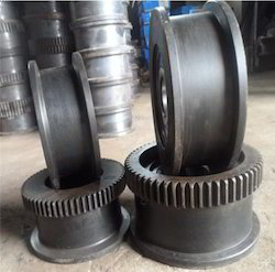 EN-9, C55MN75 Crane Trolley Wheel, For Eot Crane and Moving Machinery, Size: 160mm to 600mm