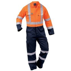 Cotton/Linen Orange & Black Safety Protex Coverall