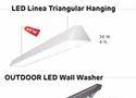 36W 4 Feet LED Linear Triangular Hanging Light
