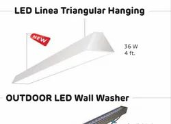 Hanging 36W 4 Feet LED Linear Triangular Hanging Light
