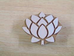 Lotus Shape Wooden Printing Blocks