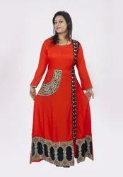 Womens Embroidered Achkan Kurti
