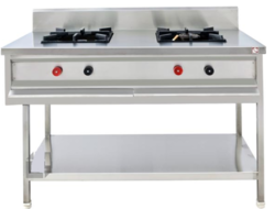 SS Two-Burner-Cooking-Range