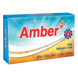 Amber Plus Detergent Cake, Packaging Type: Packet