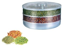 3 Container Bowl Plastic Sprout Maker Hygienic Box