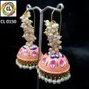Cl Jewellery Export Quality Miniature Oil Painting Earrings Manufacturer Direct