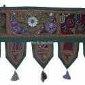Indian Patchwork Embroidered Window Valances