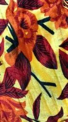 58 Inch Laxmi Viscose Rapid Gold Red Print Fabrics, Weight: 270 gram