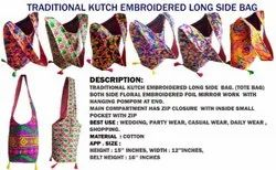 Traditional Multicolor Indian Ethnic Kutch Embroidered Handbag - Shoulder Bag