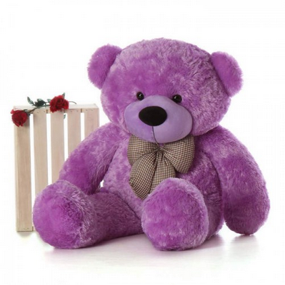 ad80002f0 ToYBULK customized Toy  s Manufacturing Life Size Purple Color Teddy Bear 4  Feet Tall 48