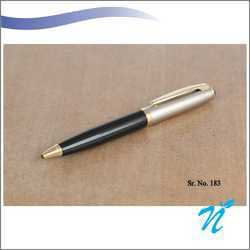 Black And Satin Finish Pen With Golden Parts