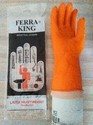 Orang Unisex Ferra King Latex Heavy Weight Rubber Gloves, For Industry/material Handling/assembly, For Industrial Use