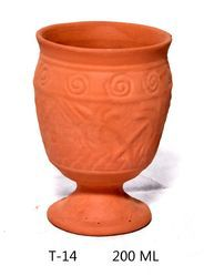 Use And Throw Clay Tea Cup