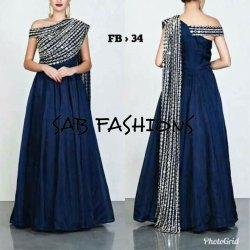Stitched Silk Gown