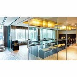 8 X 4 Feet Transparent Interior Glass