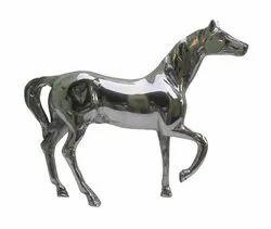 Metal Standing Horse Statue Sculpture