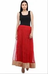 Attractive Red Readymade Skirt