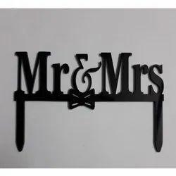 Mr & Mrs Acrylic Cake Topper