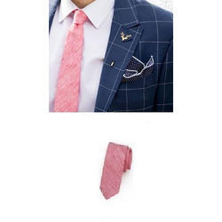 Pink Casual Tie