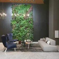 Green PVC Artificial Vertical Garden, For Decoration