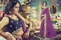 Designer Georgette Purple Saree