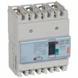 DPX3 160 MCCB 4P Breaking Capacity Icu 25 KA (400 V) 25A
