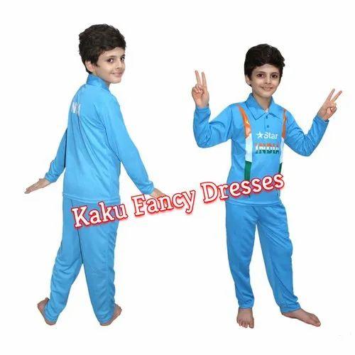 25eadb5da Girls & Boys Blue Kids Cricket Team Costume, Age: 3-4/5-6/7-8/10-12 ...