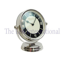 Designer Dial Decorative Table Clock Stainless Steel