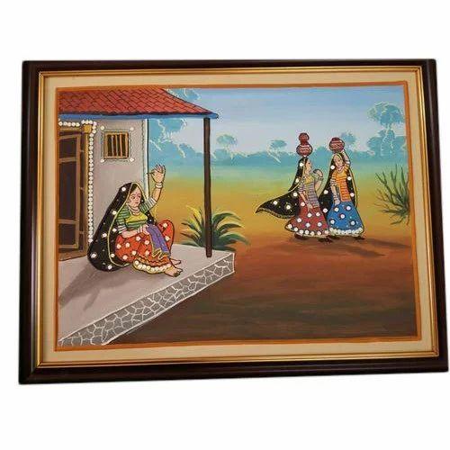Village Wall Hang Painting