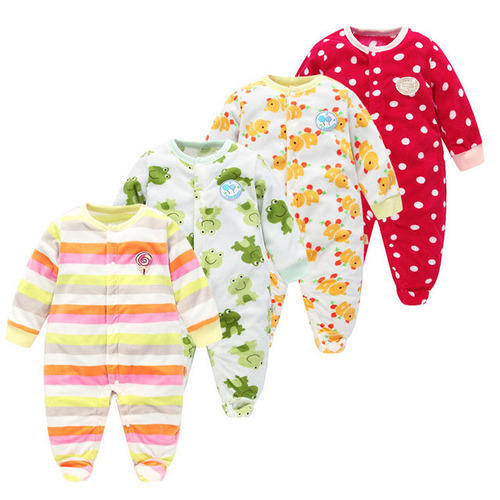 06e10dfaf9cd Multicolor Broadcloth Children Pajamas Baby Rompers Newborn Baby ...