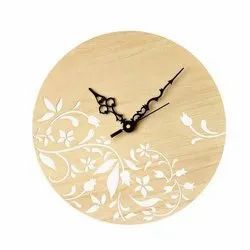 Analog Laser Cut Wooden Wall Clock, For Home