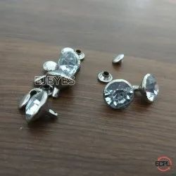 12mm Steel & Stone Stone Rivets Nickel