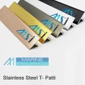 V GROOVED STAINLESS STEEL T PATTI