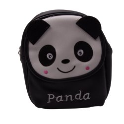 Kidofash Panda Embroidery Fashion Back Pack Cum Hand Bag For Kids