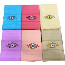 Cotton Embroidered Bath Towel For Home, Size: 28-100 Cm