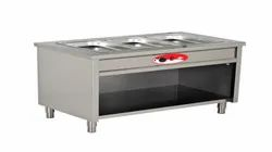Stainless Steel Three Bain Marie Container