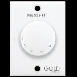 Press Fit - Gold 5 Step Fan Regulator