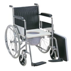 Folding  Wheel Chair with Commode Provision