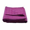 Dark Pink Kantha Bed Cover