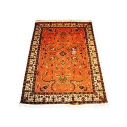 Orange Majestic Silk Floor Rug, Rs 1500