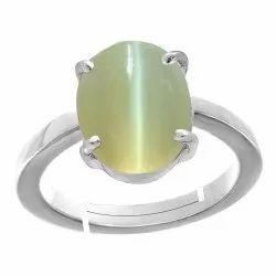 Lehsuniya Stone Silver Ring Gemstone