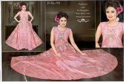 Women Pink Anarkali Gown