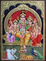 Shivan family Tanjore painting
