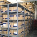 Mild Steel Free Standing Unit Slotted Angle Shelving Racks, For Storage, For Warehouse
