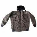 Light Brown Full Sleeve Designer Zipper Jacket, Size: Large
