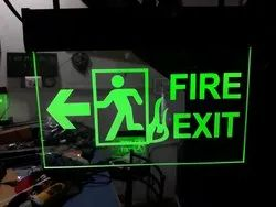 Fire Exit Signage With Battery Back-up