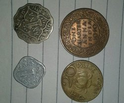 Silver And Copper 0ld Indian Coins