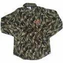 Regular Wear Full Sleeves Designer Kids Printed Cotton Shirt