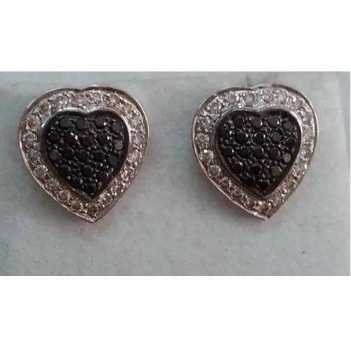 Handmade 925 Silver Diamond Earring Jewelry