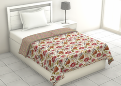 Floral Print Single Bed Dohar